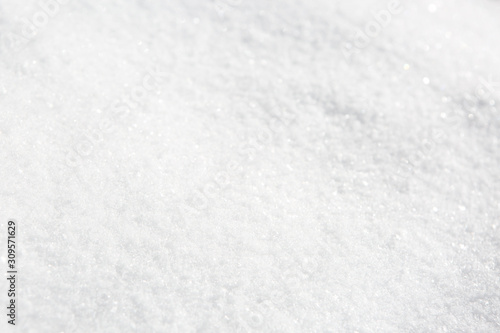 Texture of fresh natural snow. Shallow DOF Canvas Print