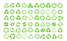 Mega Set Of Recycle Icon. Gree...