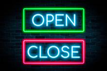 Neon Light OPEN And CLOSE Bann...