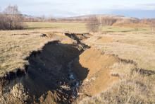 Deep Ravine Due To Soil Erosio...