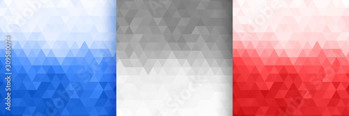 Fotografia triangle pattern set in three colors design