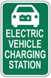 Electric Vehicle Charging Station Sign - road sign - car - icon - symbol