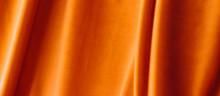 Abstract Orange Fabric Backgro...