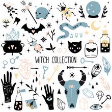 Big Witch Magic Design Element...