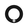 Female icon. Gender symbol. Feminism concept. Vector icon isolated on white background.