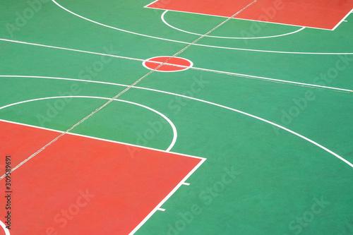 obraz PCV basketball court closeup, outdoor basketball field -