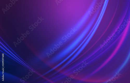 Dark abstract background with neon lines, glow. - 309597688
