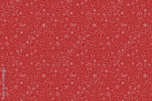 fototapeta na szkło Beautiful Xmas texture with decorations. Christmas wallpaper concept. Vector