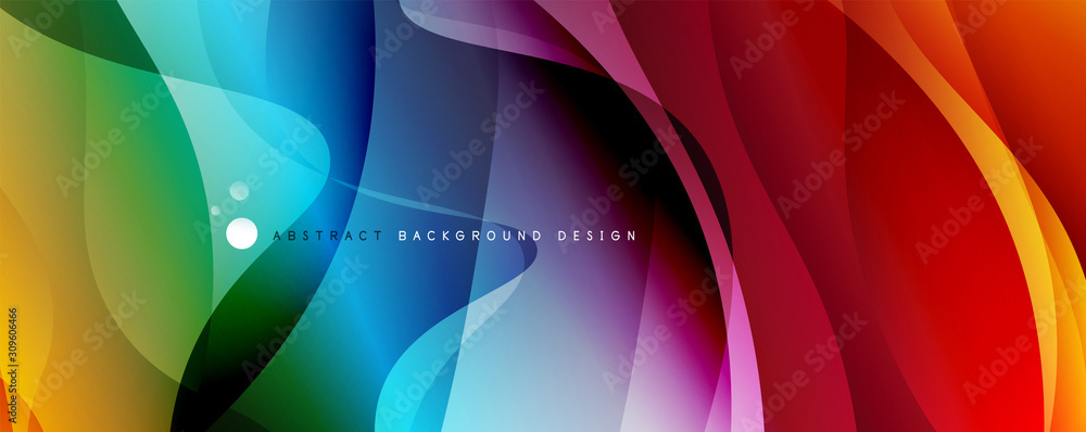 Fototapeta Trendy simple fluid color gradient abstract background with dynamic wave line effect. Vector Illustration For Wallpaper, Banner, Background, Card, Book Illustration, landing page