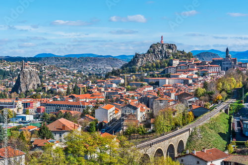 Cityscape of Puy-en-Velay town Canvas Print