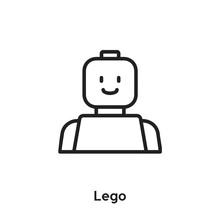Lego Icon Vector. Robotic Icon...