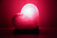 Salt Lamp In The Form Of A Heart