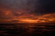 canvas print picture - Sonnenuntergang an der Nordsee