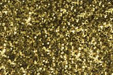 Golden Christmas Stars On Black Background,