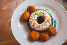 Delicious Donuts On The Table