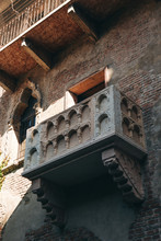 Balcony Of Romeo And Juliet In Verona In Italy. One Of The Famous City Attractions.