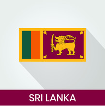 Flag Of The Sri Lanka With Sha...