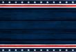 Leinwandbild Motiv USA background. USA flag elements on wooden backdrop.