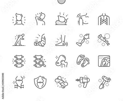 Fotomural Orthopedics Well-crafted Pixel Perfect Vector Thin Line Icons 30 2x Grid for Web Graphics and Apps