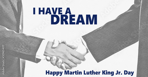 Happy Martin Luther King jr day Tableau sur Toile