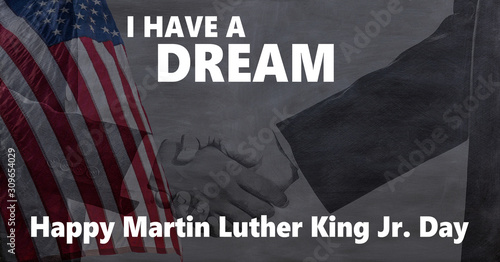 Canvastavla Happy Martin Luther King jr day