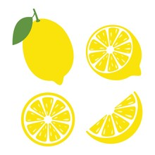 Fresh Lemon Fruits, Lemon Icon...