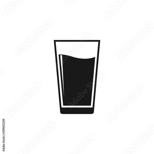 Foto water glass icon