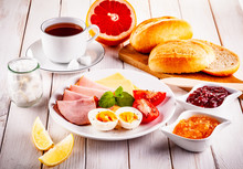 Continental Breakfast On Woode...