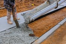 Truck Loads Of Concrete Poured...