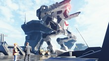 A Huge Military Robot On A Fut...