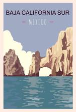 Baja California Sur Retro Post...