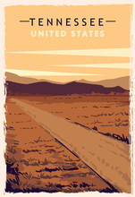 Tennessee Retro Poster. USA Te...