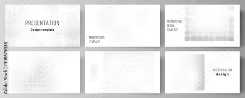 Fotografie, Tablou Vector layout of presentation slides design business templates, multipurpose template for presentation brochure, brochure cover