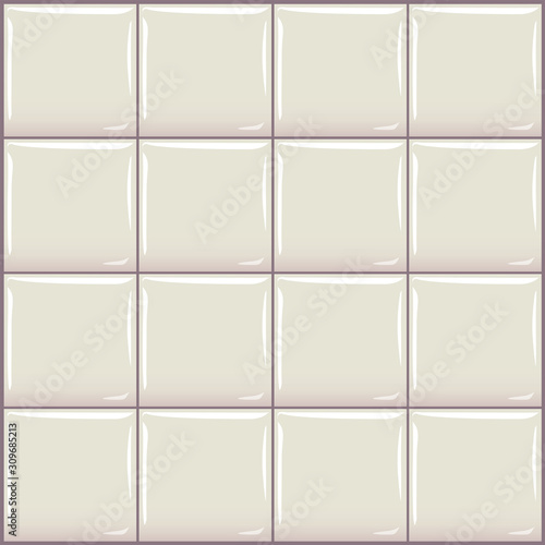 Seamless vector tile. Glossy clear square ceramic mosaics Canvas-taulu