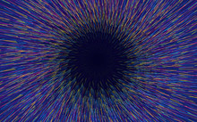 An Abstract Background Composed Of Colored Lines Moving Toward The Center