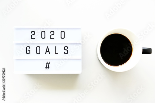 Photo  2020 GOALS Business Concept ,minimal style