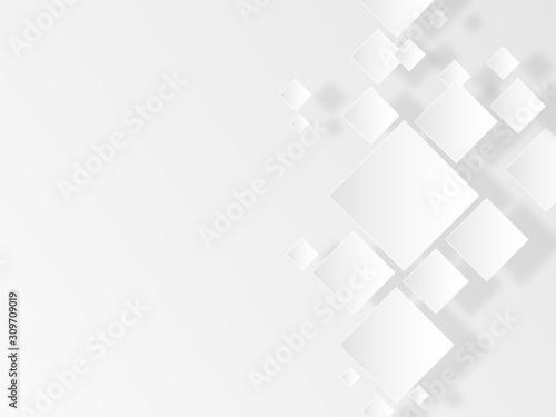 Obraz 白い菱形 - fototapety do salonu