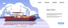 Marine Port Landing Page. Mari...