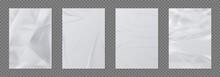 Wrinkled Paper. Crumpled Sheet...