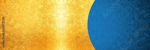 Fototapeta 青と金の背景 obraz