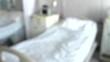 Hospital bed. BLUR. 4K, UHD, 50p, Cinematic,Close-up,