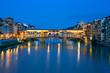 Leinwanddruck Bild -  ponte vecchio bridge over Arno river, Florence
