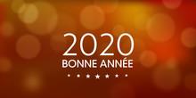 Bonne Année 2020 Orangé Avec...