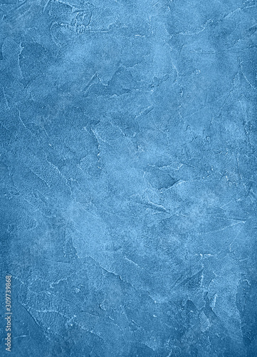 Fototapety, obrazy: Old wall texture toned classic blue color