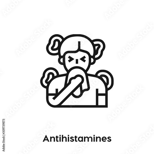 antihistamines icon vector sign symbol Wallpaper Mural