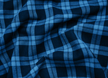 Texture Checkered Fabric Toned Classic Blue Color