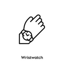 Wristwatch Icon Vector. Wristwatch Icon Vector Symbol Illustration. Modern Simple Vector Icon For Your Design. Wristwatch Icon Vector