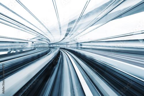 Cuadros en Lienzo Motion blur of train