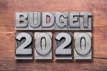 2020 Budget Wooden
