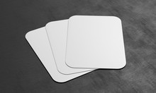 Three Blank Playing Cards On D...